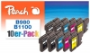 319981 - Peach Pack of 10 Ink Cartridges, XL-Yield, compatible with LC-1100VALBP Brother