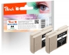 320082 - Peach Twin Pack Ink Cartridge black, compatible with LC-970BK*2, LC-1000BK*2 Brother