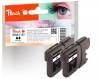 320083 - Peach Twin Pack Ink Cartridge black, compatible with LC-980BK*2, LC-1100BK*2 Brother